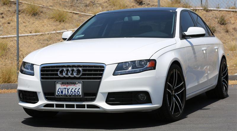 White Audi A4