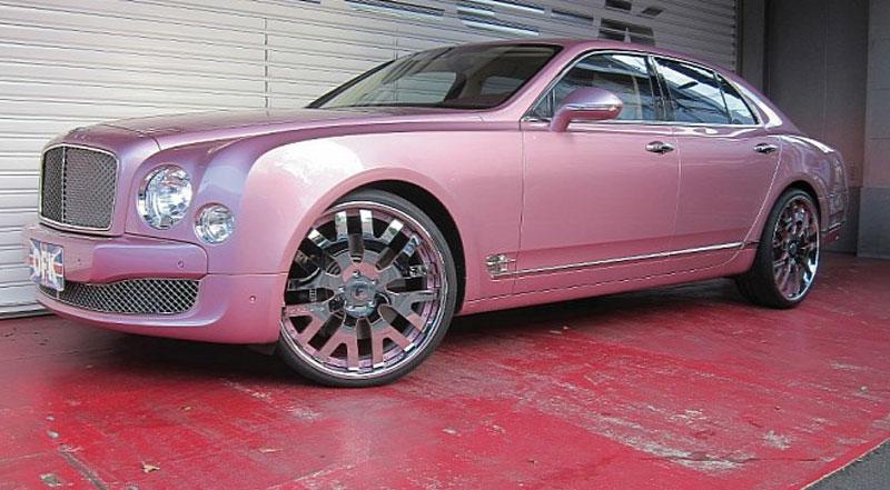 Bentley Mulsanne Pink Car Gallery Forgiato