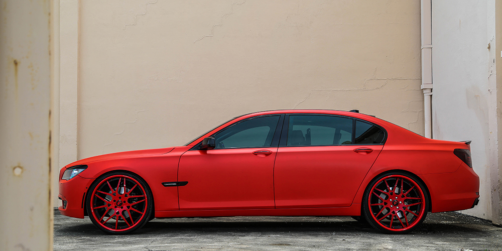 Bmw 7 Series Red Ori