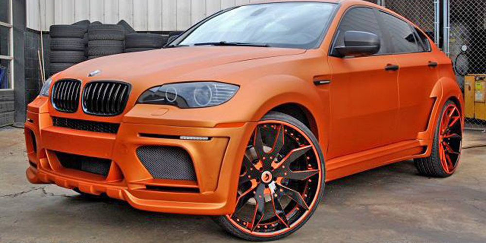 orange bmw x6 series