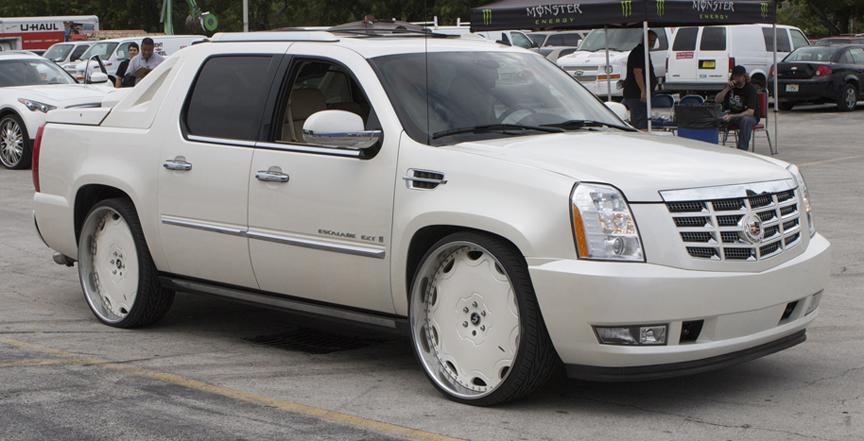 White Cadillac Escalade