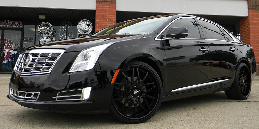 Black Cadillac Xts Car Gallery Forgiato