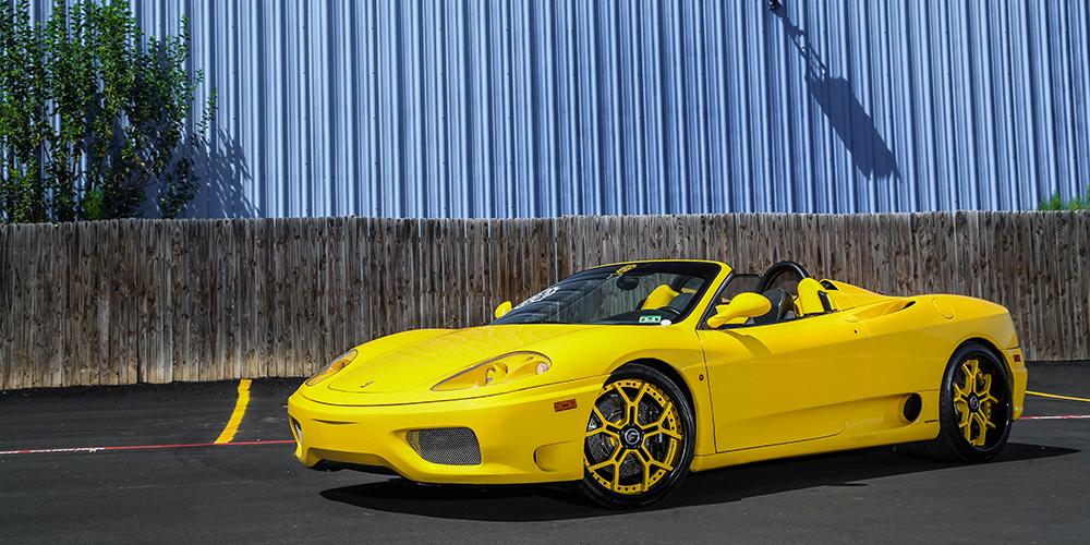 360 Modena Ferrari Yellow Car Gallery Forgiato
