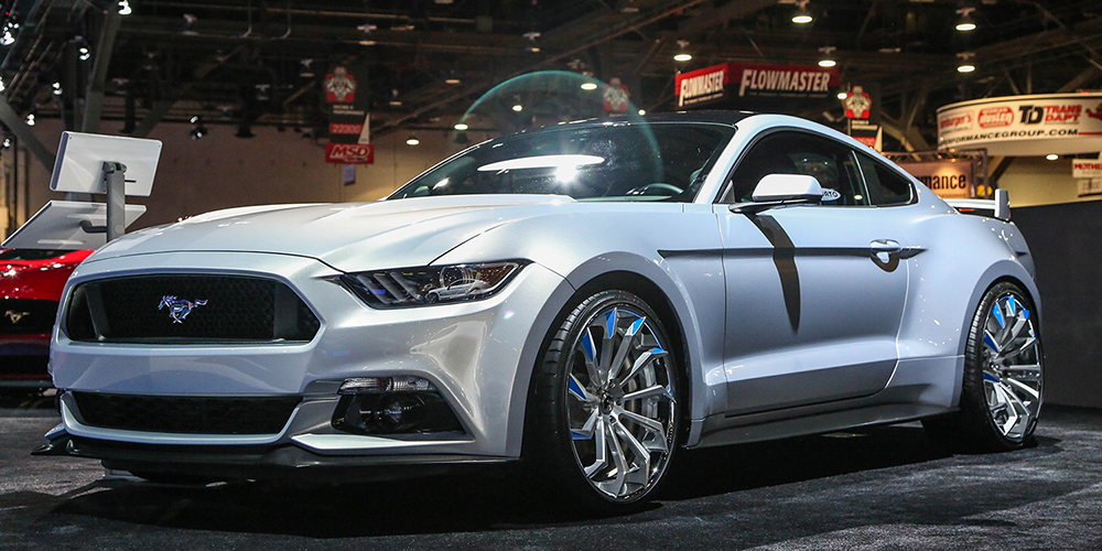 Ford Mustang Silver Car Gallery Forgiato