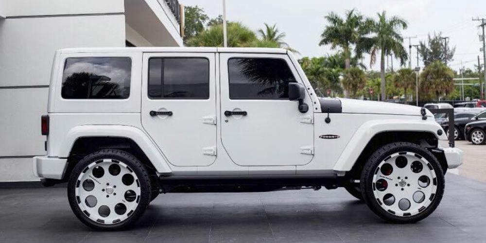 White 2 Door Jeep Wrangler
