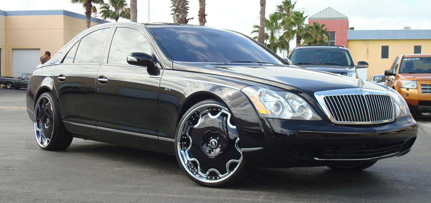 5762 Black Maybach Car Gallery Forgiato
