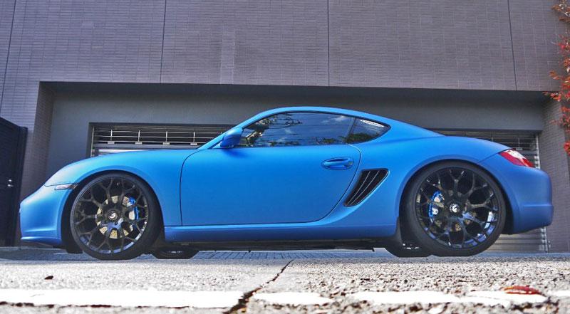 Cars Gallery Porsche Cayman Blue Forgiato