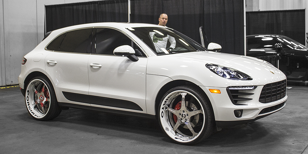 Macan Porsche White Car Gallery Forgiato