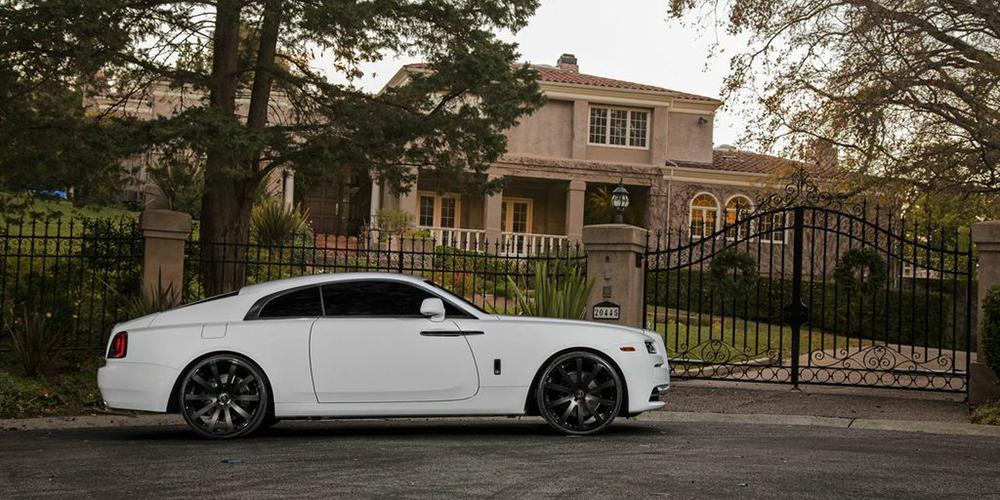 Rolls royce white wraith car gallery forgiato