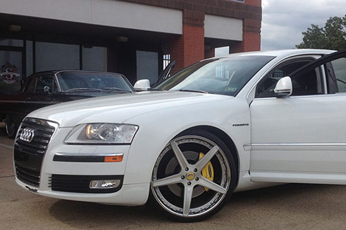 A8  Audi  White  car gallery  Forgiato