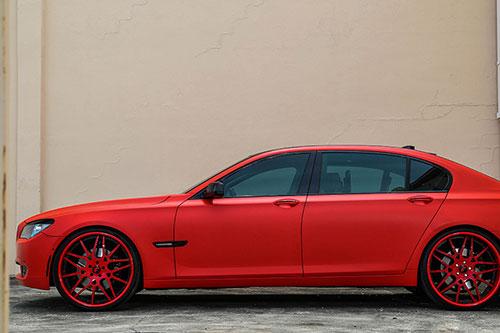 7 Series Bmw Red Car Gallery Forgiato