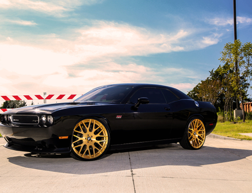 Challenger on Gold Wheels