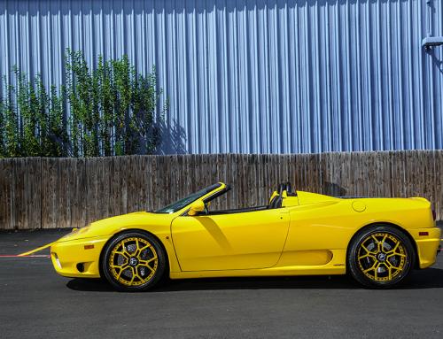 Yellow Ferrari 360