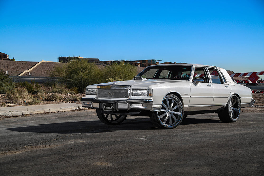 1989 Box Chevy on Brushed 24's