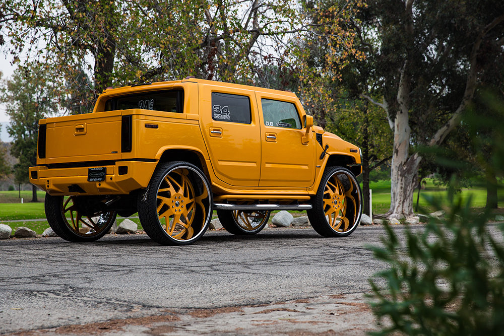 Hummer on 34 Inch Forgiato Wheels
