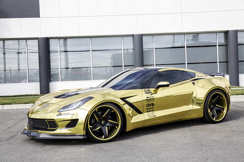 Gold Corvette On F2 21 Ecl