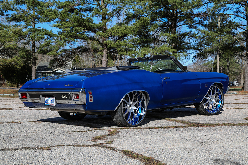 1970 Chevelle Ss On Brushed Wheels