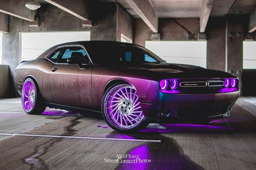 Dodge Challenger On Ventoso
