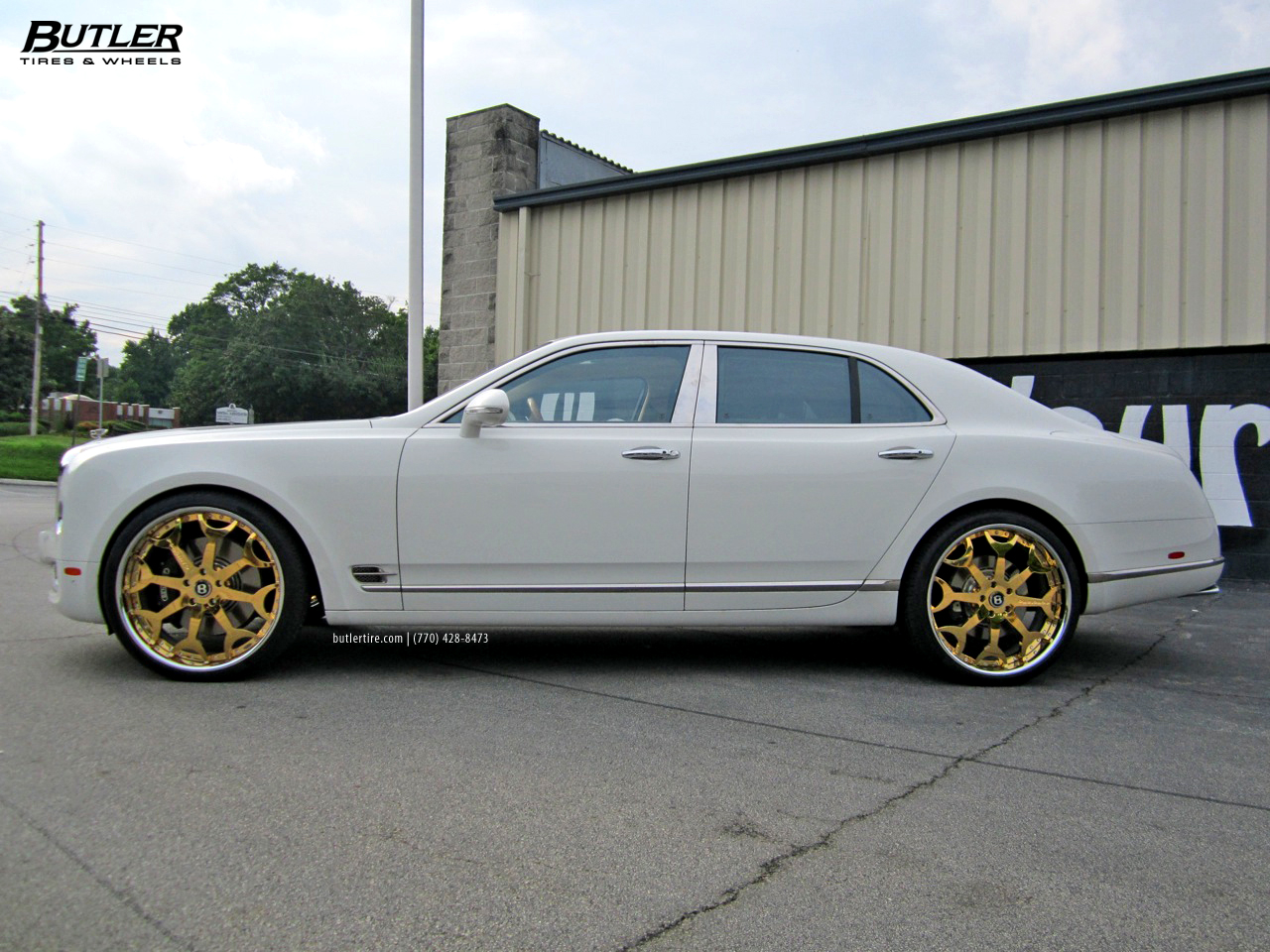 Bentley Mulsanne With 24in 24k Gold Forgiato Capolavaro