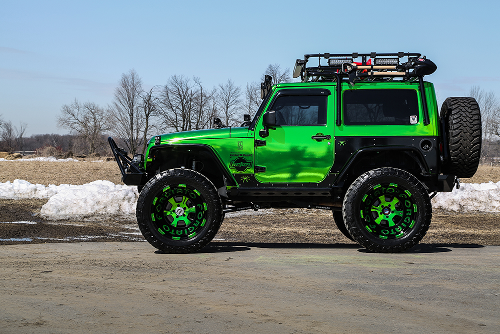 Custom Jeep Wrangler >> Jeep Wrangler on 24×14 Terra Wheels