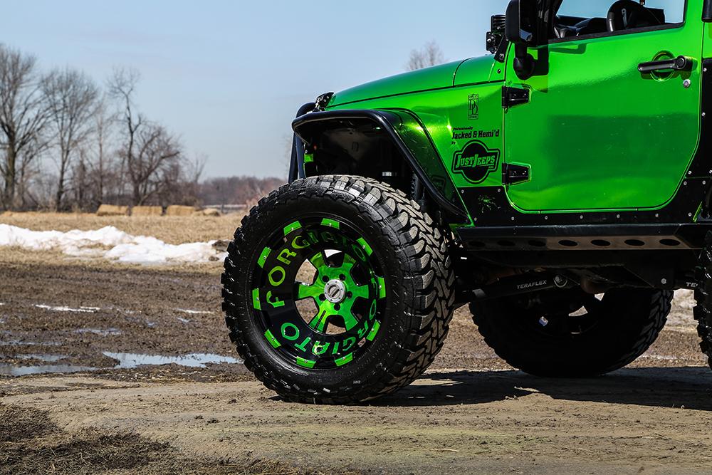 Green Jeep Wrangler >> Jeep Wrangler on 24×14 Terra Wheels