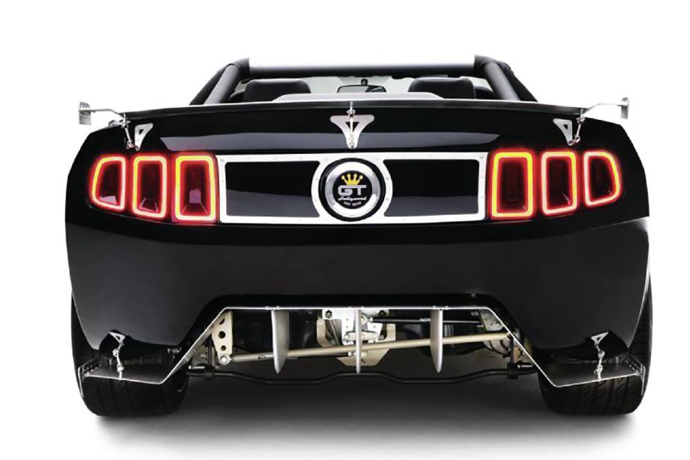 2014 Ford Mustang 5 0 Rear Splitter Spoiler View