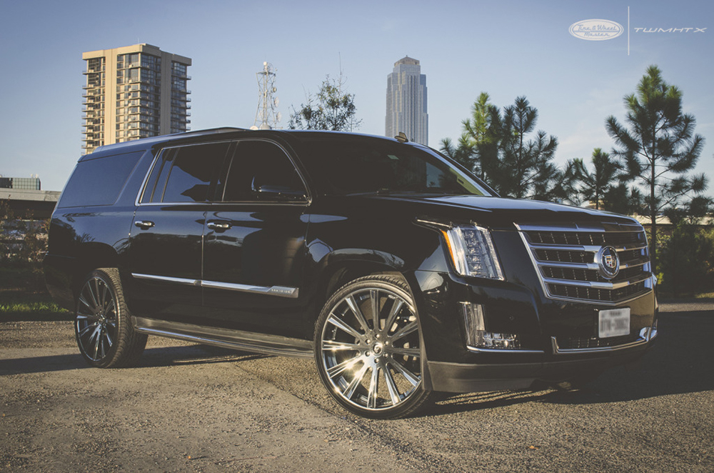 slim thug's cadillac escalade on forgiatos