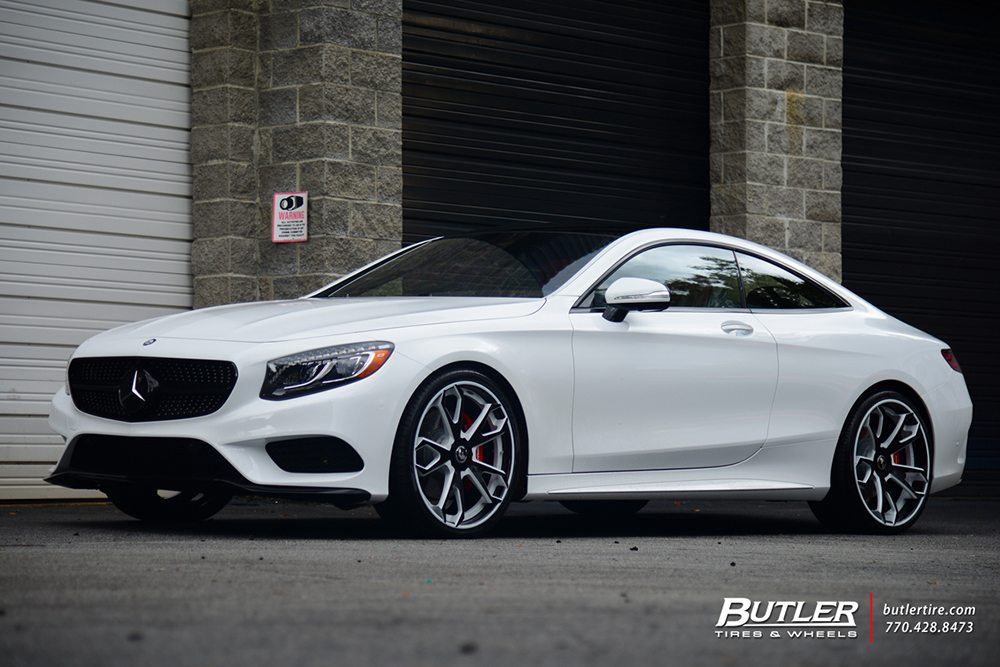 White Tire Paint >> Mercedes S550 Coupe on F2.19-ECL
