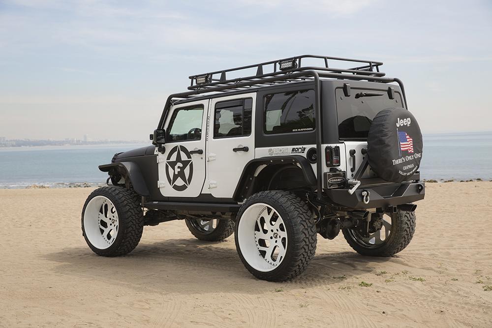 Jeep Wrangler Down Malibu Beach