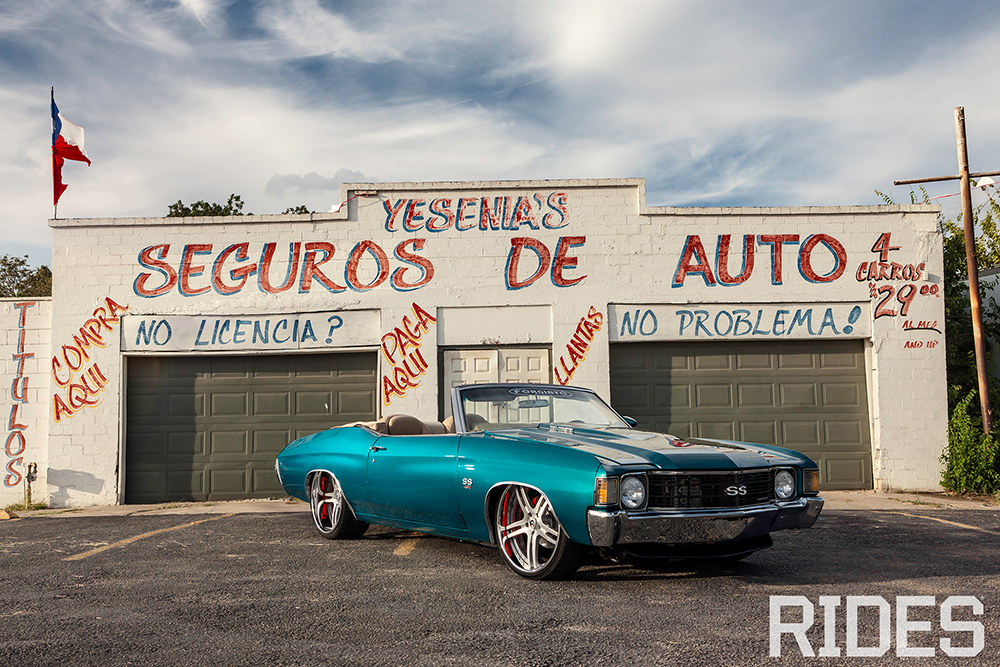 "Heavy Chevy – 72′ Chevelle Convertible On 22"" Pianura"