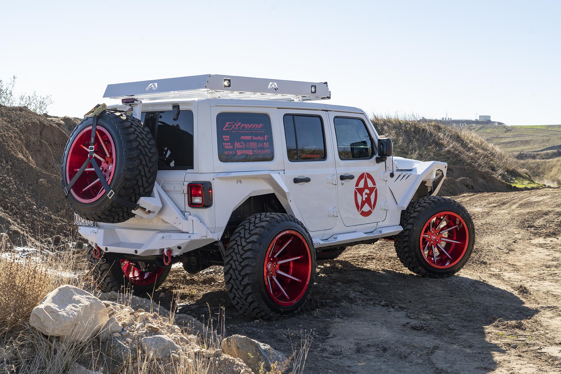 Crazy Custom Jeep Wrangler on 24-Inch Forgiatos For Sale